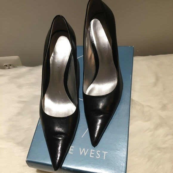 Nine West Black Leather Freda High Heel Pumps. M 5ba50e232beb79b4a5866590 4dfb0c8da